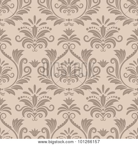 Baroque seamless vector pattern