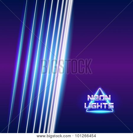 Bright neon lines background