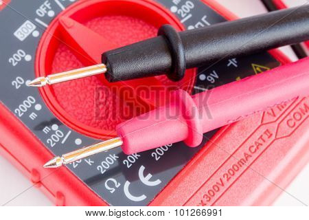 Digital Multimeter  With Two Probes