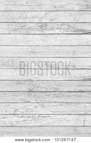 White Wood Planks As Background Or Texture