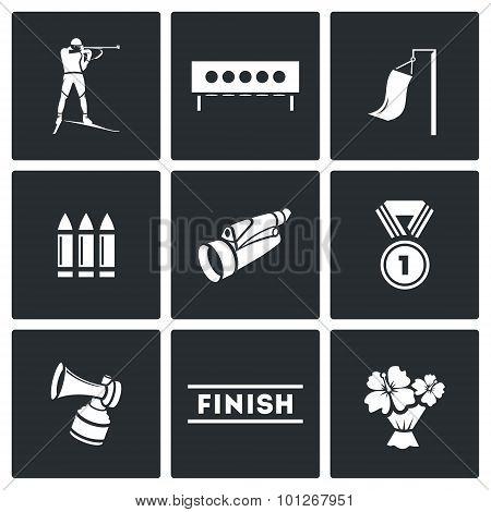 Biathlon Icon Set