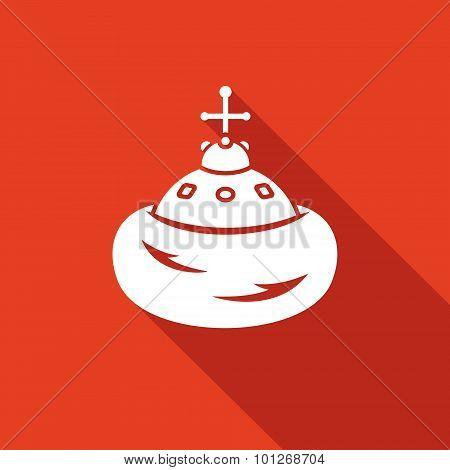 Cap Of Monomakh Icon. Vector Illustration