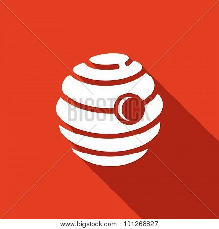 Beehive Icon. Vector Illustration