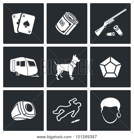 Romany Icons. Vector Illustration.