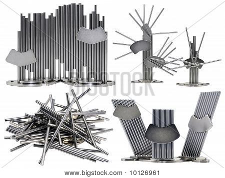 Set Of Metal Abstract Figures