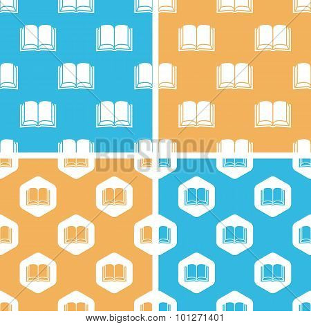 Book pattern set, colored