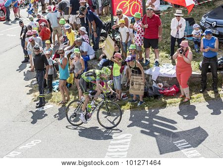 The Cyclist Ryder Hesjedal On Col Du Glandon - Tour De France 2015