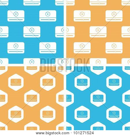 Mediaplayer window pattern set, colored