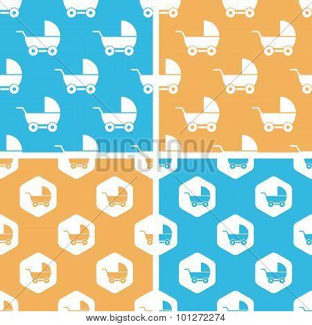 Stroller pattern set, colored