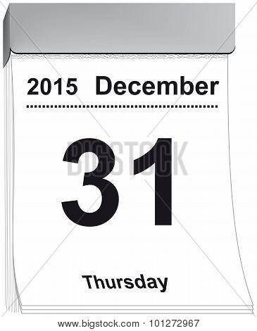 tear off calendar December 31, 2015