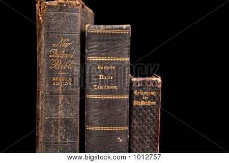 Three Very Old Bibles Including Two German Bibles