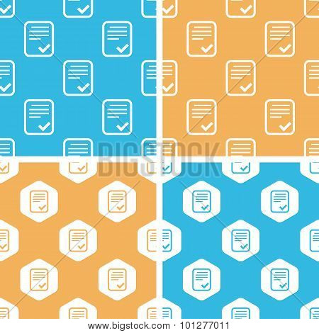 Approved document pattern set, colored