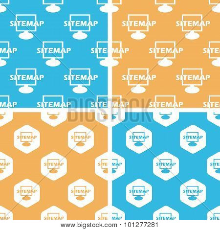 Sitemap pattern set, colored