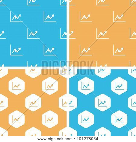 Rising graphic pattern set, colored