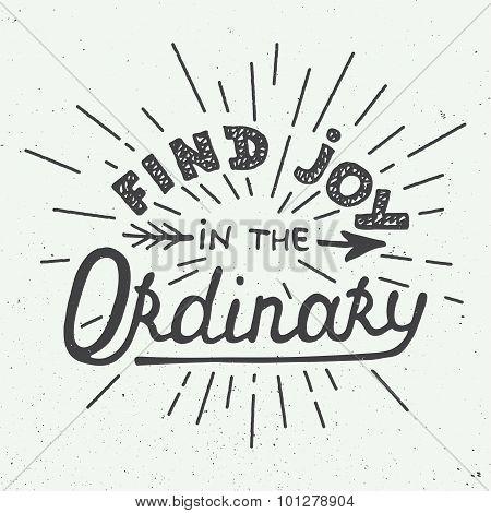 Find joy in the ordinary on dark background