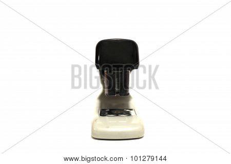 Black Office Stapler On White Background