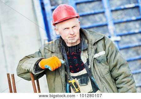 construction concreter builder labour worker at building site