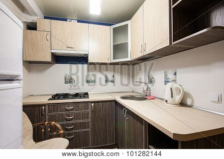 Small kitchenette in a studio