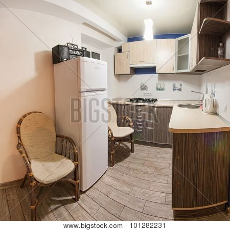 Room with soothing colors, homely atmosphere
