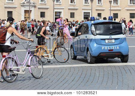 Italian Police At Vatican
