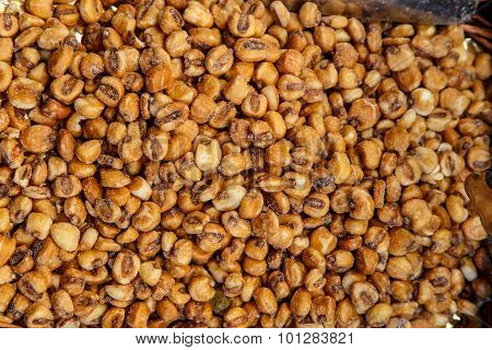 Closeup Of A Pile Of Toasted Salted Corn