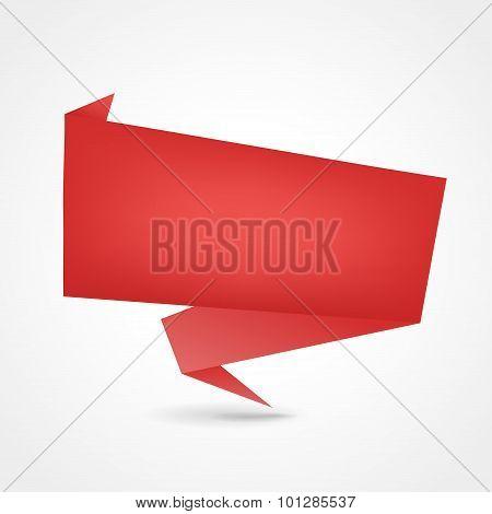 Red Origami Design