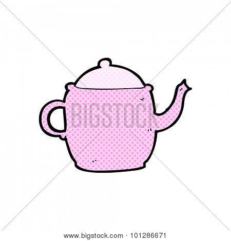 comic book style cartoon tea pot