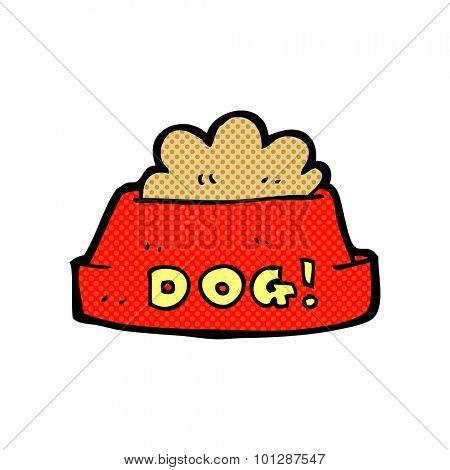 comic book style cartoon dog food