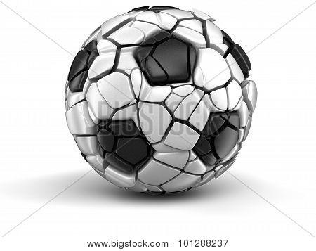 Soccer football falls apart