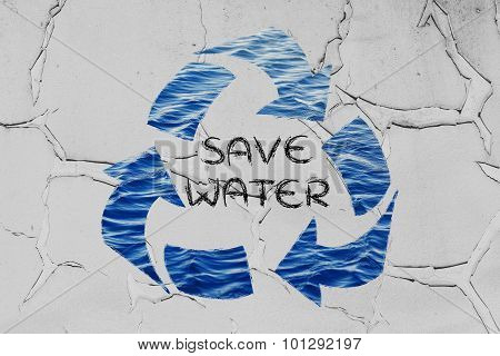 Save Water (recycle Symbol)