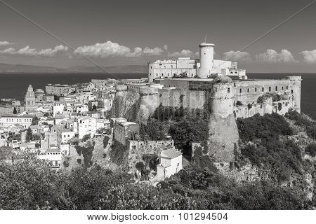 Aragonese-angevine Castle In Old Town Of Gaeta