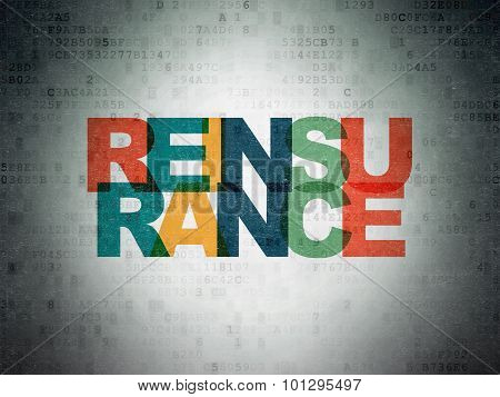 Insurance concept: Reinsurance on Digital Paper background