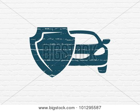 Insurance concept: Car Insurance on wall background