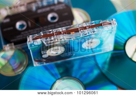 Tape Cassette with CD Disks