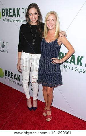LOS ANGELES - AUG 27:  Carly Chaikin, Angela Kinsey at the