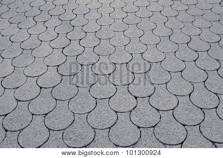 Pavement With Fish Scale Pattern