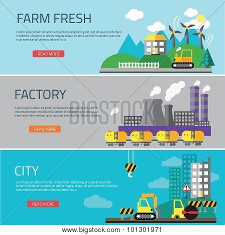 Factory landscape, Ecology Concept