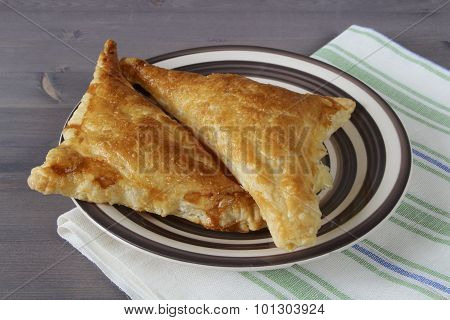 Cheese Triangles Of Puff Pastry