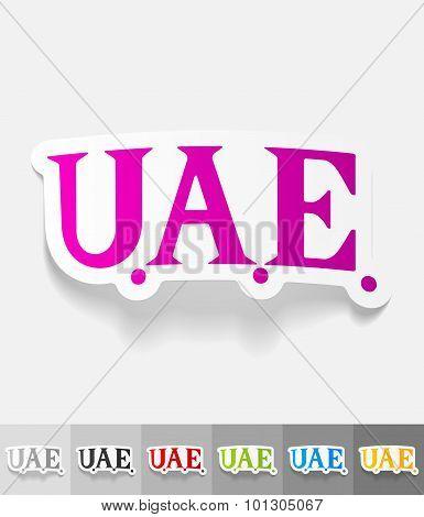realistic design element. United Arab Emirates