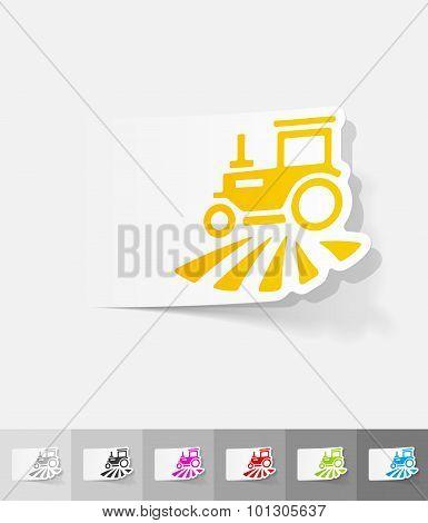 realistic design element. tractor