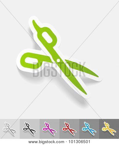realistic design element. scissors