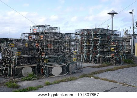 Many Lobster Traps Or Cages