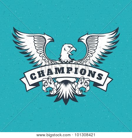 Eagle logo emblem template mascot