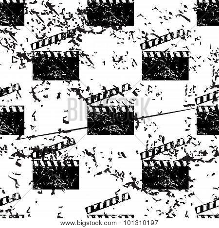 Clapperboard pattern grunge, monochrome