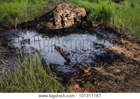industrial oil pollution.