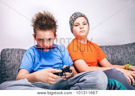 Two beautiful gamer