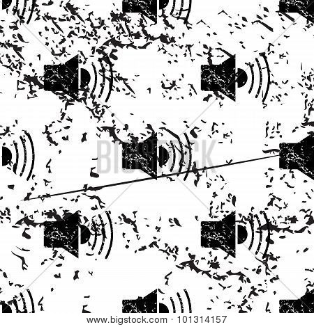 Loudspeaker pattern, grunge, monochrome
