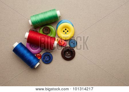 Sewing Buttons And Threads