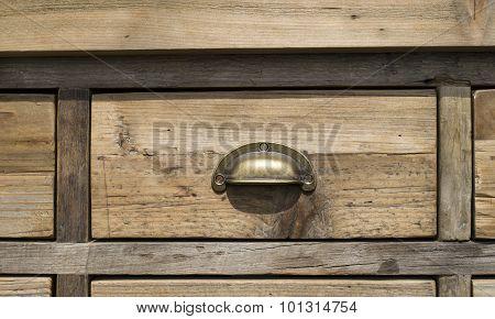 Old Wooden Drawer Cabinet