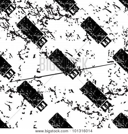 USB stick pattern, grunge, monochrome